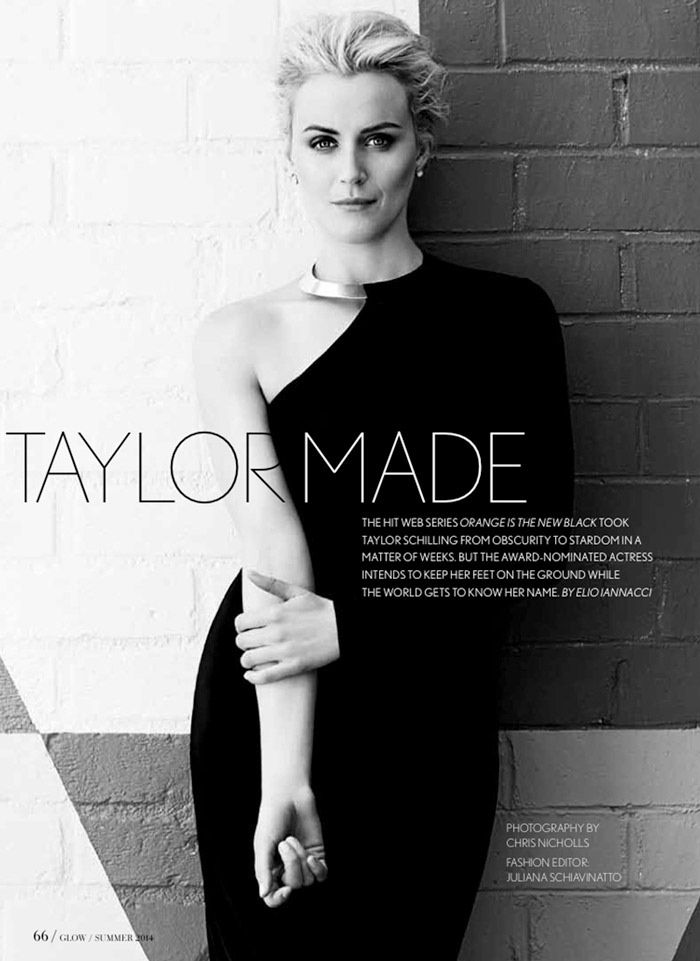 OITNB Star Taylor Schilling Gets Glam for Glow Shoot by Chris Nicholls