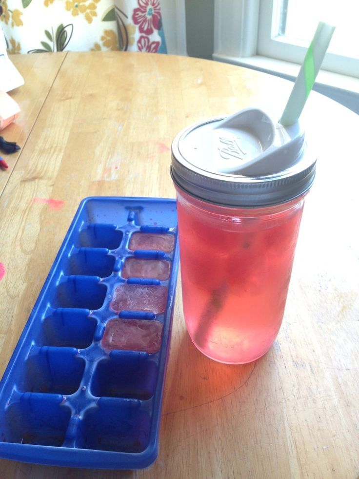 DIY electrolyte ice cubes for labor