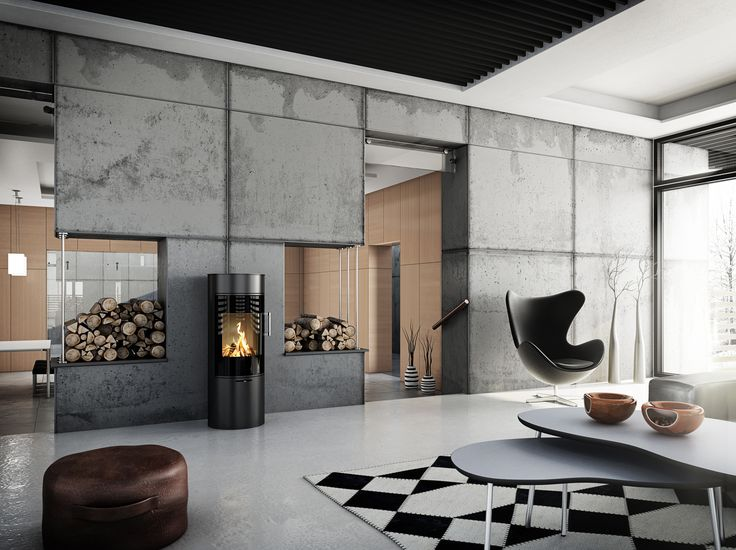 Every piece in this home comes into its own - what a beautiful decoration #Rais #Stove #Design #Furniture #Decoration