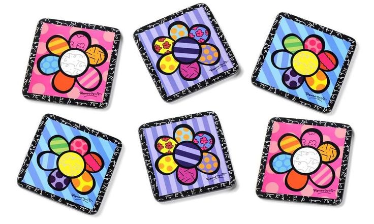 Romero Britto Coasters