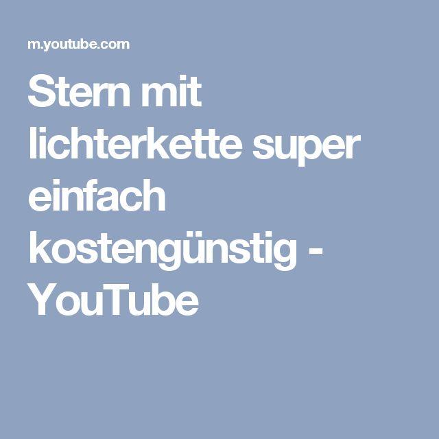 Stern mit lichterkette super einfach kostengünstig - YouTube