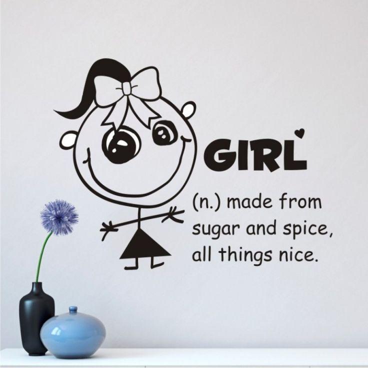 "VINYL WALL STICKER ""GIRL"""