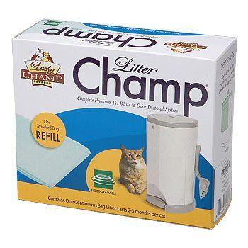Lucky Champ Litter Champ Refill Pack Green Litter Cat Pet Supplies Pet Waste Disposal