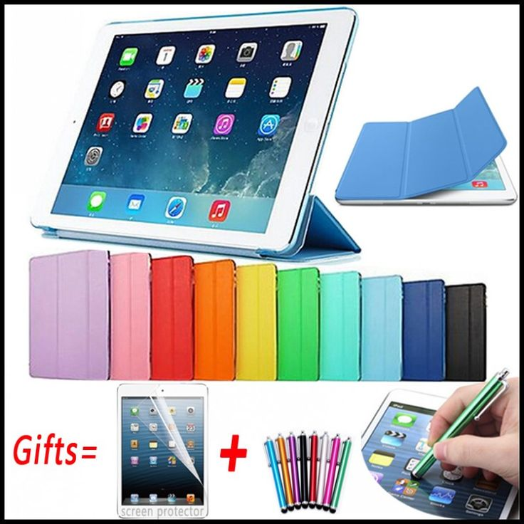 Ultra Slim Magnetic Cover for iPad 2 Case Connected Smart Cover for iPad 4 Case Matte Hard Back Leather Case for iPad 3 9.7