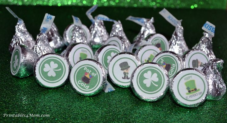 "St. Patrick's Day Free Printable Hershey Kiss Stickers    Click on the link in the post to visit the Scribd page. Click Download on the right of the image. You will need to create a free account or sign in with Facebook. Next, choose the file type (pdf, word, etc.) and choose ""Download now"". From there it should save, allow you to open and print. I hope that helps! If it doesn't send me your email address to printables4mom@gmail.com and I can email the file to you. =)"