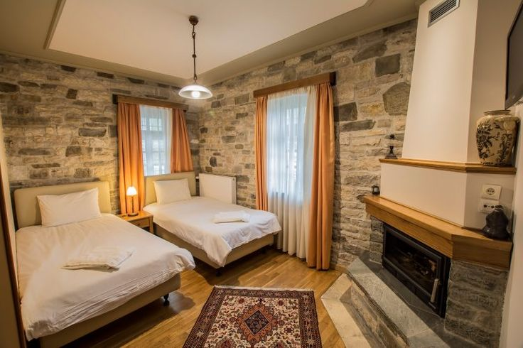 Standard double-Room (Νο 1) Boutique hotel, Traditional guesthouse, Stone, Wood and natural fabrics textiles