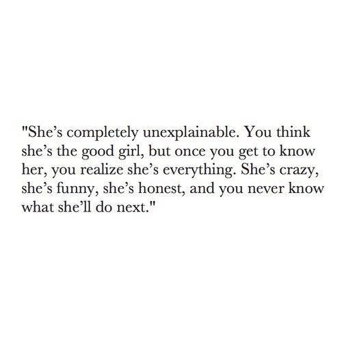 amazing if someone actually thought that about me