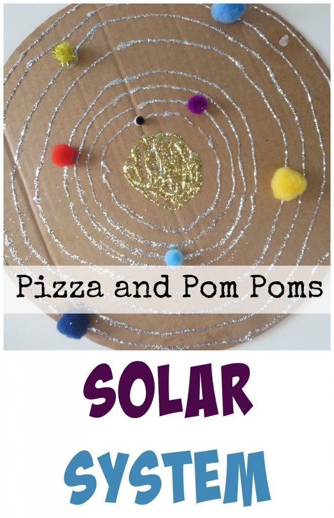Upcycle and use craft supplies you probably already have on hand for a great learning activity for a preschool or totschool space unit. Solar System Craft