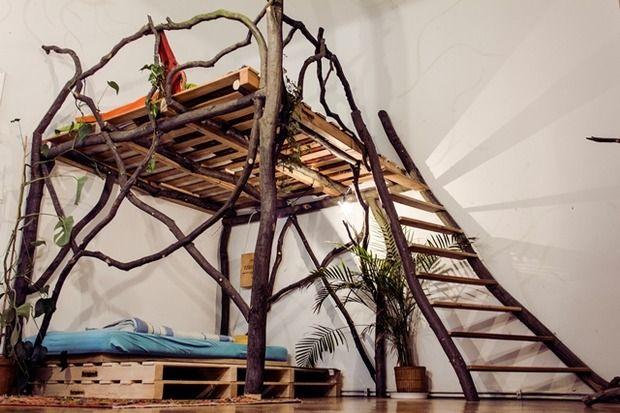 Gnarled nature loft bed