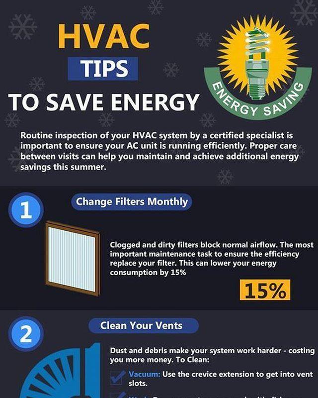 Hvac Tips To Save Energy Infographic Hvactips Savingenergy Tipstosaveenergy Infographic Hvac Comfortairzone Sandiego