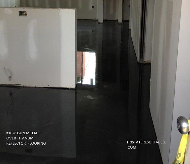 Tri State Concrete Resurface Reflector Floor Gun Metal Over Titatium