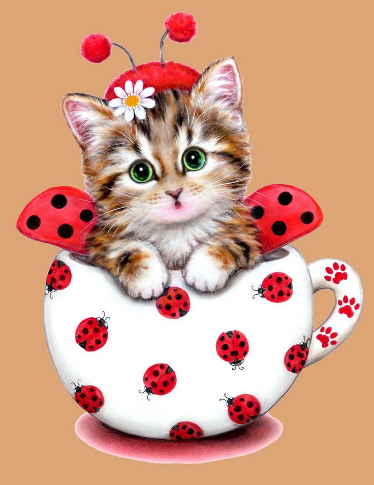 Смыслом, кошка на открытку