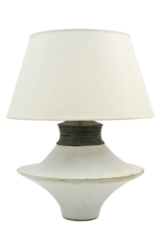 shaped white ceramic table lamp with ribbed charcoal neck france table lamps pinterest ceramic table lamps and ceramic table
