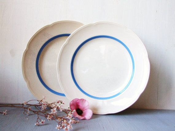 Vintage Fajance Dinner Plates Danish Aluminia by andthebigbadwolf, $22.00
