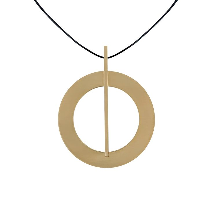 """""""An original handmade piece of jewelry""""  Two-sided necklace made of marble and brass. Unique structures and grains of stone captured in simple geometric shape make every piece a timeless original.  Comes with a 45 cm leather cord settled in a soft pillow in a black box."""