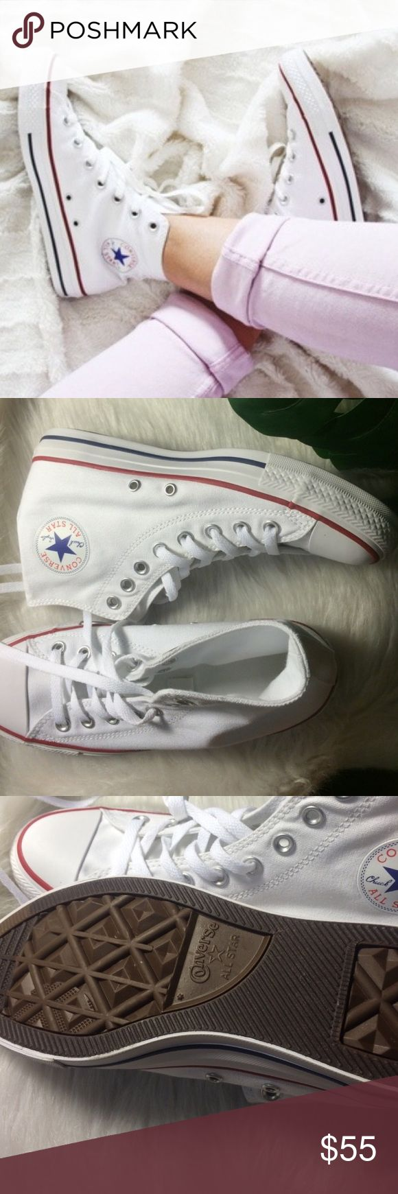 CONVERSE SIZE 9 WOMENS ALL WHITE CHUCK TAYLOR New without box. Size 9 WOMENS Converse Shoes Sneakers