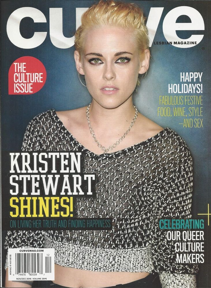 Curve gay magazine Kristen Stewart Culture issue Holiday festive food wine style