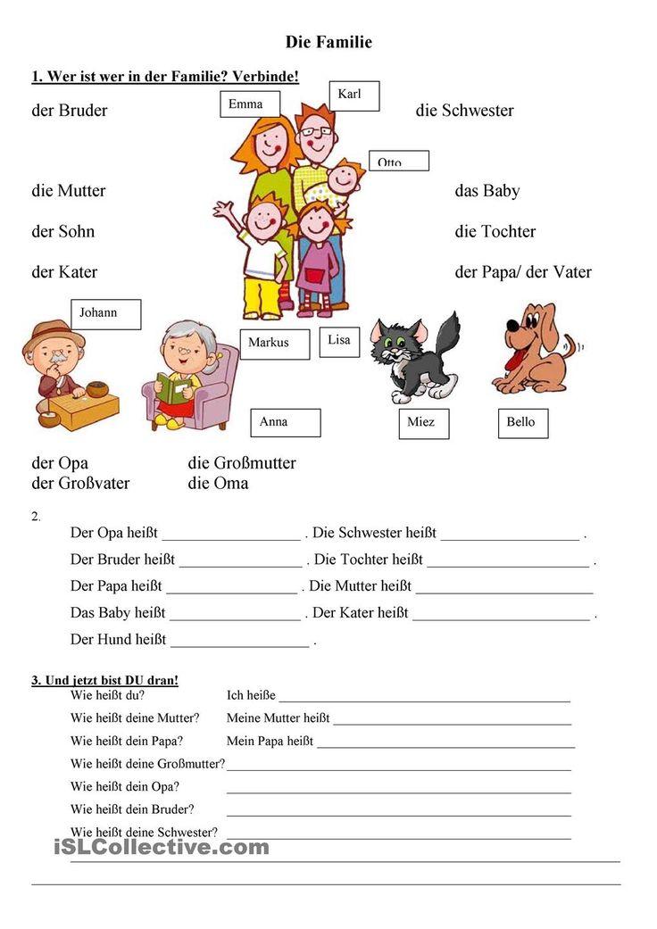 die Familie | Frei DAF worksheets