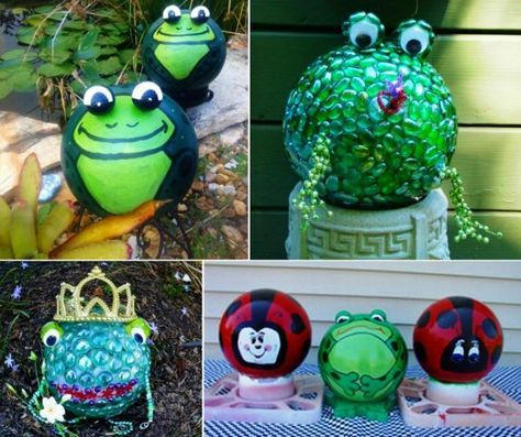 Bowling Ball Frogs