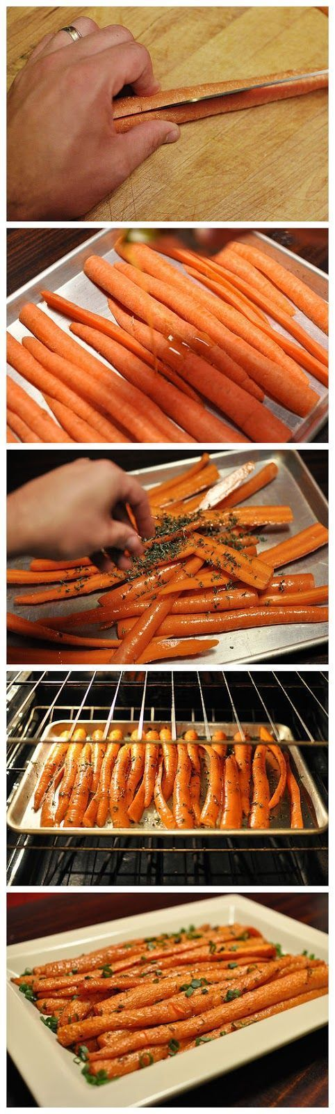 Garlic Roasted Carrots - This is really the best and easiest way to roast carrots. All you need is 5 min prep