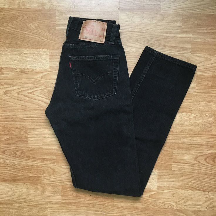 vintage levis 501 black high waisted jeans, w 27, size 25 / 26 by TheMerryVintage on Etsy https://www.etsy.com/listing/552581688/vintage-levis-501-black-high-waisted