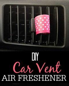 DIY Car Vent Air Freshener via @juliefrugally