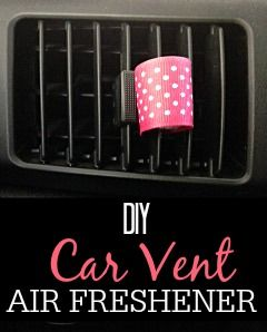 Dealing with bad car smell? Try this easy DIY Car Vent Air Freshener. It works great with essential oils.