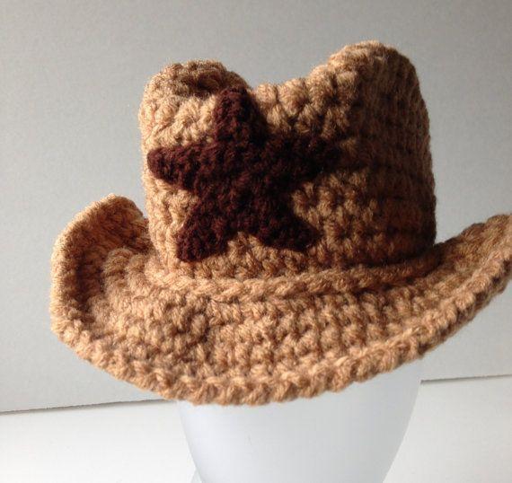 Cowboy Hat  Baby Photo Prop  Cowboy Baby  by ShelleysCrochetOle