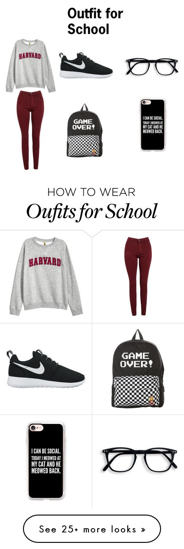 2017 06 fashionplaytes design studio -  Outfit For School By Ava Josephine On Polyvore Featuring H M Ag Adriano