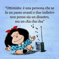 Mafalda e l'ottimismo.