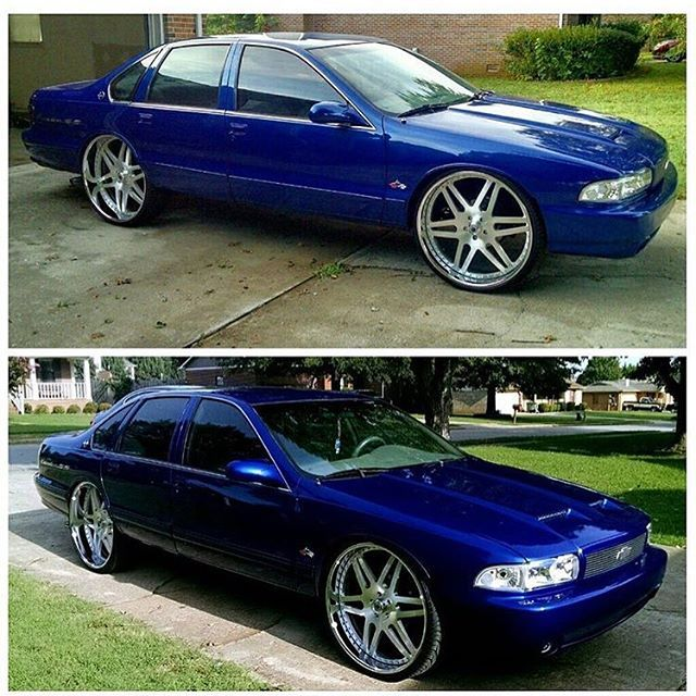 donk cars blue cars future car car stuff impala ps grill master dream cars chevy