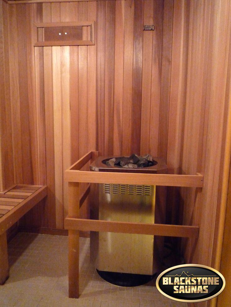 Small Blackstone Custom Sauna Built Into An Oversized Closet Of A Home!  Visit Www.