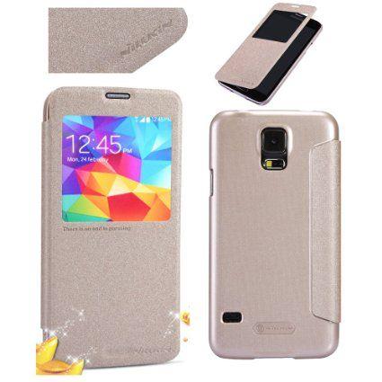 Nillkin Θήκη Smart Cover Preview - Χρυσό Sparkle (Samsung Galaxy S5 G900) - myThiki.gr - Θήκες Κινητών-Αξεσουάρ για Smartphones και Tablets - Χρυσό Sparkle