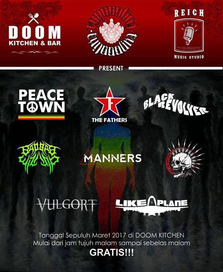 TUNGGALIKA music concert @ Doom Kitchen & Bar #canggu  with https://www.facebook.com/baobabwizardbali/ #BaliEventCalendar #music #bali