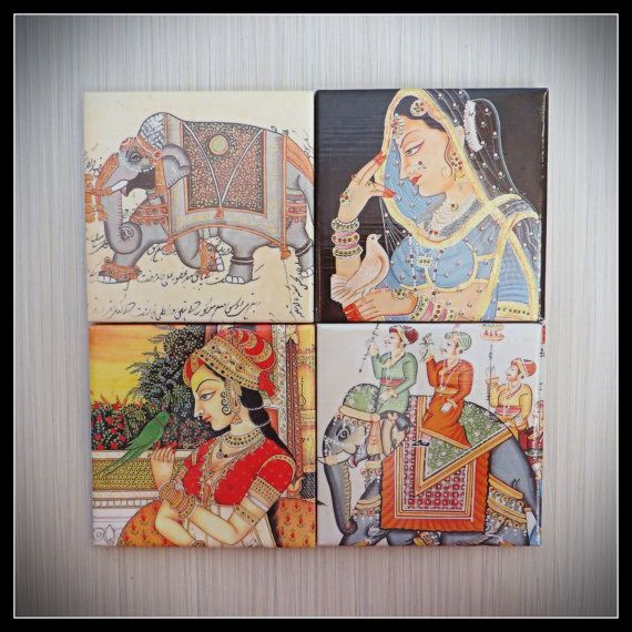 Mughal Empire Indian King Queen  4 Piece by LUSHCoasterLand