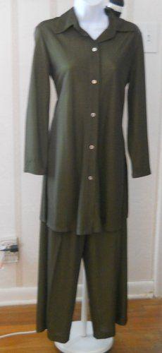 Ladies Linda Allard Ellen Tracy Pants Top Size 6 4   eBay $34.20