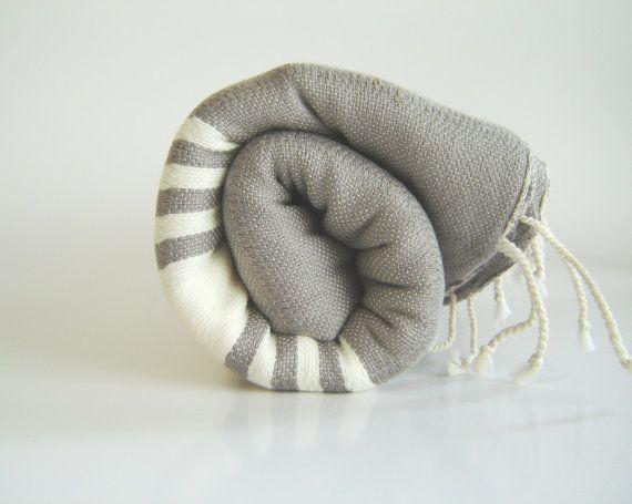 Handwoven Turkish Towel, Peshtemal Natural Soft Cotton by TheAnatolian on Etsy, $28.00