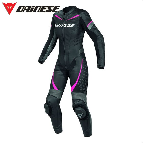 Dainese Women's Racing Leather Suit Black/Anthracite/Fuchsia. I think I may have just found my suit.