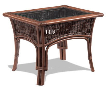 Tigre Bay Rattan End Table   Tropical   Furniture   Wicker Paradise