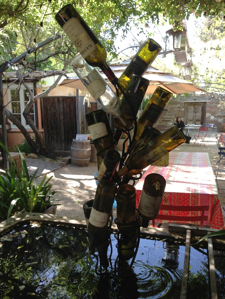 1000 images about recycled garden fountains on pinterest for Wine bottle fountain