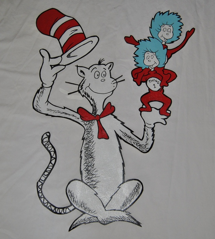 42 best images about cakes cat in the hat on pinterest for Dr seuss wall mural