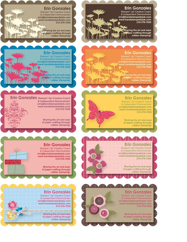 Nice Stampin Up Business Cards Gallery - Business Card Ideas ...