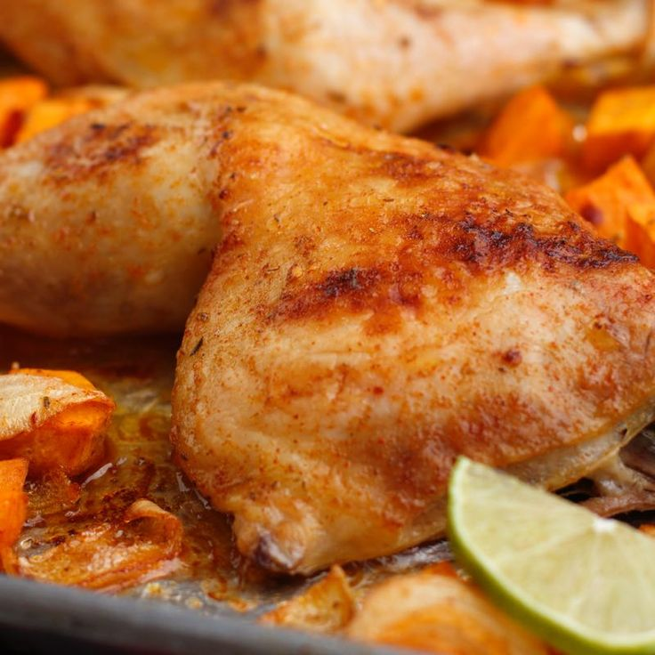 Scored Potatoes Recipe: Southwest Roasted Chicken & Sweet Potatoes