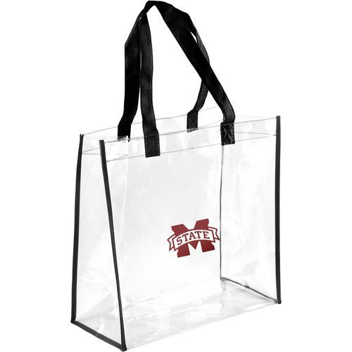 Forever Collectibles Mississippi State University Clear Reusable Bag (Clear, Size ) - NCAA Licensed Product, NCAA Novelty at Academy Sports