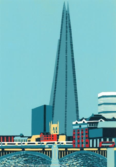 Shard View with Southwark Bridge by Jennie Ing £170