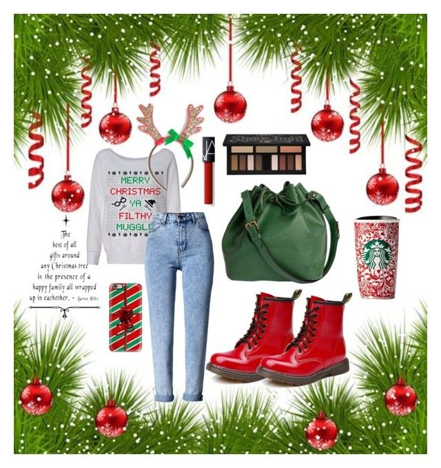 """""""Christmas #1"""" by siggan22 on Polyvore featuring WithChic, Casetify, Louis Vuitton, NARS Cosmetics and Kat Von D"""