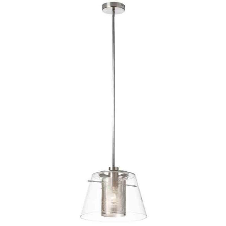 Dainolite 904-131P-SC 1LT Pendant w/ Clear Glass & Steel Mesh