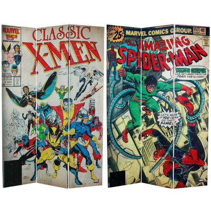6 ft. Tall Double Sided Spider-Man/X-Men Canvas Room Divider - OrientalFurniture.com  [ *-*  please? PPLlleeaaassseee?  @Janell Renee   @Jay Durant   ]