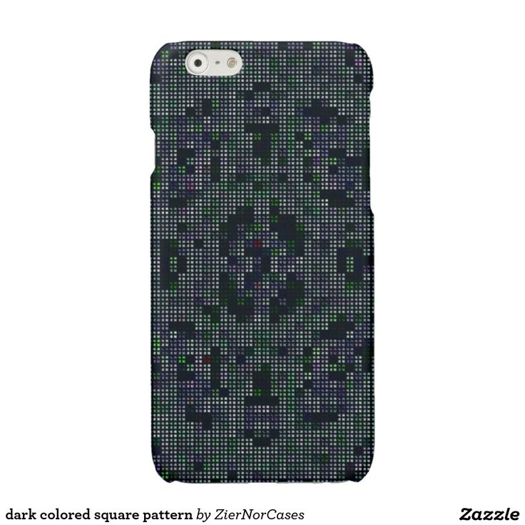 dark colored square pattern glossy iPhone 6 case