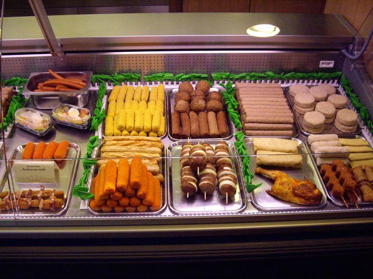 dutch 'snackbar': frikandellen, kaassouffle, berenhap